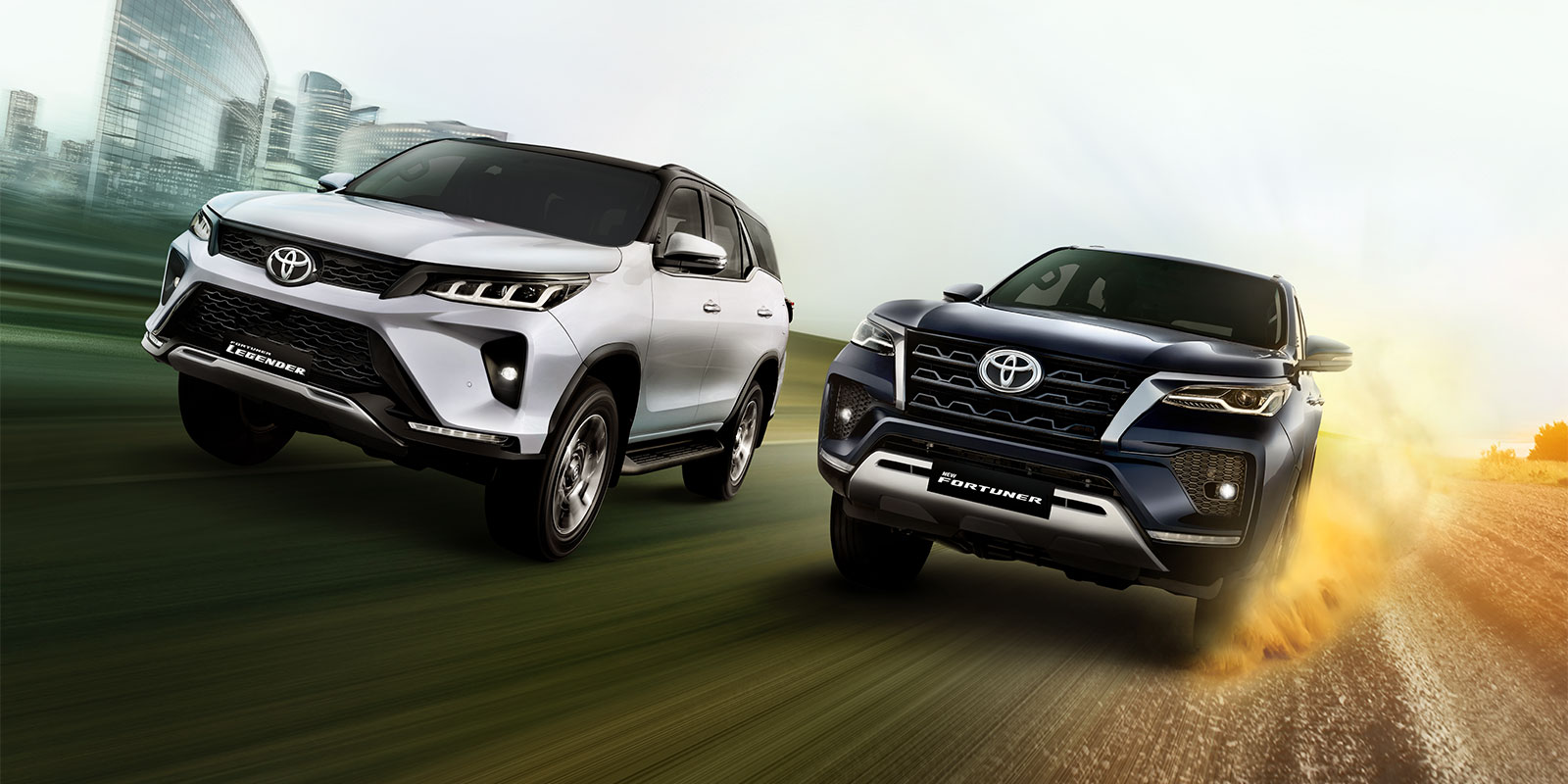New Toyota Fortuner and the new Fortuner Legender